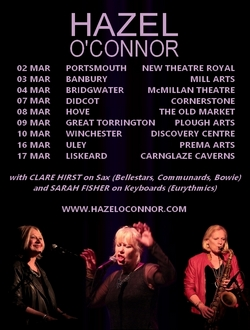 An Evening With Hazel O'Connor and Sarah Fisher and Clara Hirst 2018