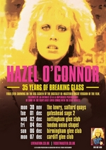 HAZEL O'CONNOR 35 years of Breaking Glass