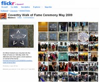Hazel O'Connor - Coventry's Walk of Fame flickr gallery 2009