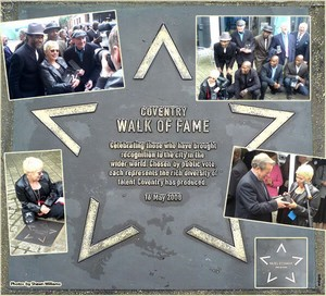 Hazel O'Connor - Coventry's Walk of Fame plaque. Unveiled 16/05/2009
