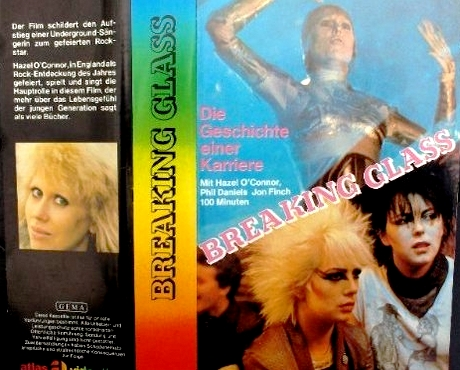 Hazel O'Connor Breaking Glass DVD Sleeve