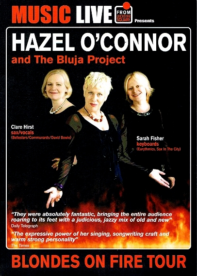 Hazel O'Connor And The Bluja Project Flyer 2011