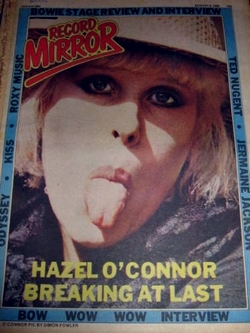 Hazel O'Connor Record Mirror 9th August 1980