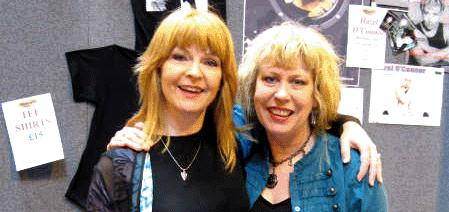 Hazel with Toyah at the NEC on Sunday 1st April 2007