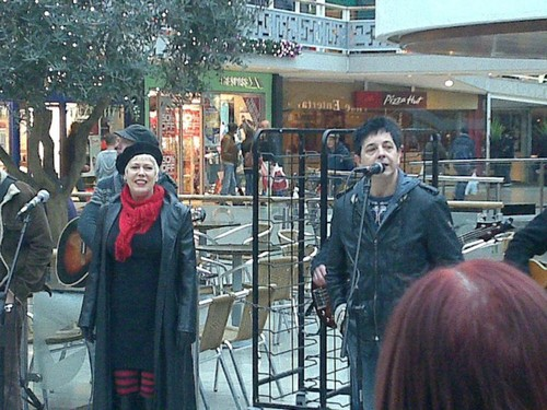 Hazel O'Connor in Cov Market 11th Dec 2010