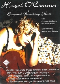 Hazel O'Connor Beyond The Beaking Glass Tour Flyer