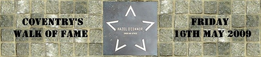 Hazel O'Connor plaque from Coventry walk of Fame in 2009